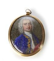517 - Continental School, 18th century, Portrait miniature of a gentleman.