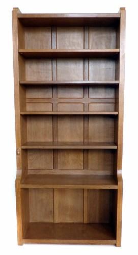 Lot 571 - Robert Mouseman Thompson light oak bookcase