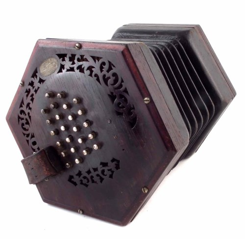 Lot 77-Lachenal 48 key concertina serial no. 45587