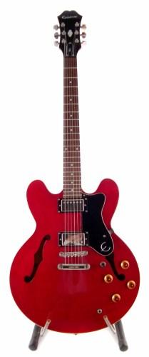 Lot 78-Epiphone dot electric guitar