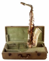 81 - Grafton saxophone in case also a Bandmaster