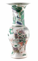 228 - Large Chinese famille verte vase,