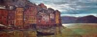351 - Harold Riley, Portofino, oil.