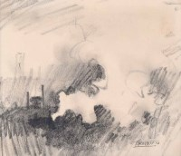 469 - Trevor Grimshaw, Steam, graphite drawing.