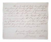 43 - Captain W. Brown, signed letter dated 13th