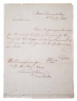 45 - Sir Richard Strachan signed letter, dated 3rd