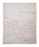 46 - Sir John Louis, signed letter dated 27th April 1805,