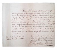 48 - Admiral William Bayntun signed letter dated 22nd