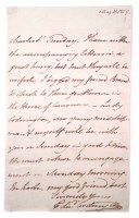 49 - Admiral Sir Edward Coddington signed letter dated