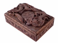 57 - Carved Duke of Wellington regiment box.