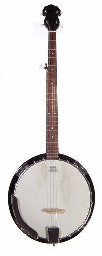 Lot 28-Bowwood Banjo and case