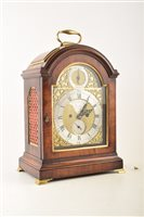 Lot 335-A mid 18th century mahogany bracket clock by Christopher Moon of London