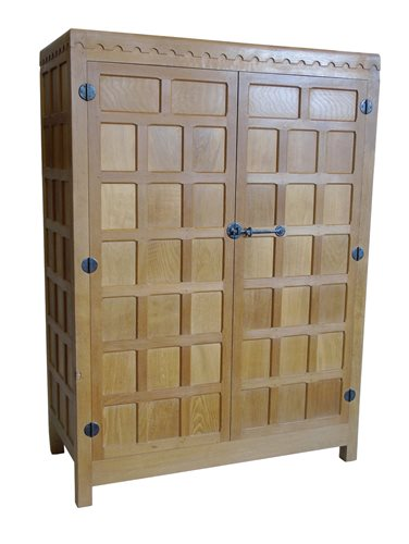 Lot 449-Mouseman wardrobe