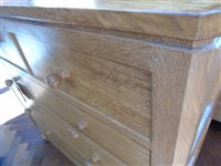 Lot 453 - Mouseman chest of drawers
