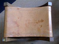 """Lot 451-Robert """"Mouseman"""" Thompson """"X"""" framed dressing table stool."""