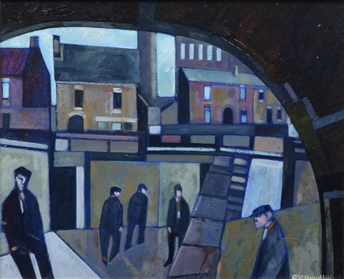 """Lot 419 - Peter Stanaway, """"Rochdale Canal"""", acrylic."""