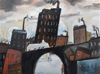 "563 - William Turner, ""The Garth, Stockport Viaduct"", oil."