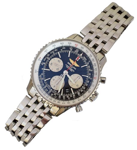 Lot 84-Gent's Breitling Navitimer 01 Chronograph stainless steel wristwatch