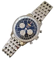84 - Gent's Breitling Navitimer 01 Chronograph stainless steel wristwatch