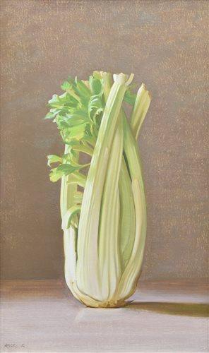 """483 - Stephen Rose, """"An Arabesque of Celery"""", oil."""