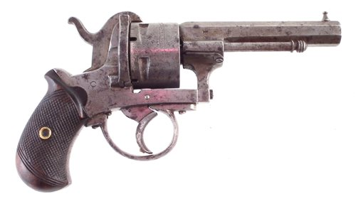 Lot 9-12mm 5 shot Guardian Pin fire revolver.