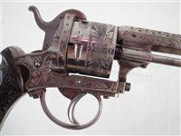 Lot 12mm 6 shot Guardian Pinfire revolver.