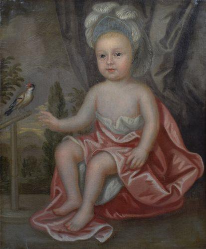Lot 590-English School, 18th century, Portrait of Charles Foley Wilmot (1798-1852), oil.