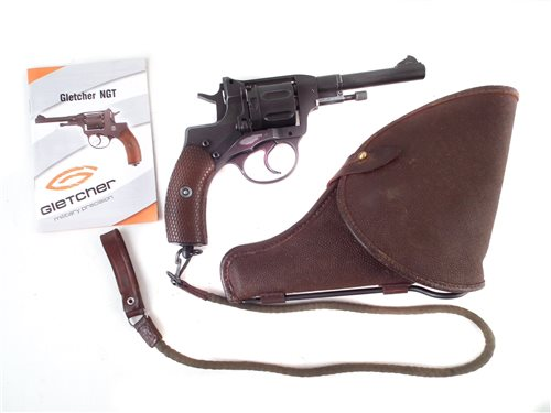 Lot 245 - Gletcher air pistol revolver nagant with