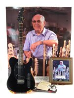 95 - G & L Broadcaster presented to Mike Cooper with signed Leo Fender presentation card