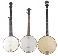 24 - Slingerland tennor banjo and two other banjos