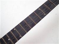 Lot 29-R. Ward Gold Medal fret less banjo and a Mathews fretted banjo