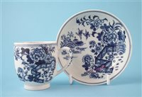 Lot 135-Lowestoft coffee cup and saucer