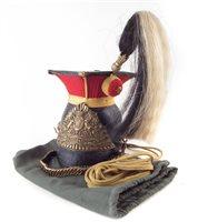 Lot 39-16th Lancers helmet.