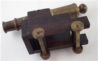 Lot 13-19th century bronze signal cannon on naval base