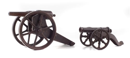 Lot 4-Model cannon by Blake Holborn and one other