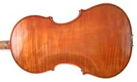Lot 2-Douglas Perry viola with snake wood bow and case