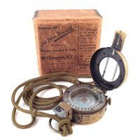 24 - 1940 British compass with lanyard