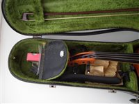 Lot 4-John Cresswell Viola with bow, case and accessories.