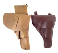 42 - Browning semi-automatic pistol holster with magazine and one other holster