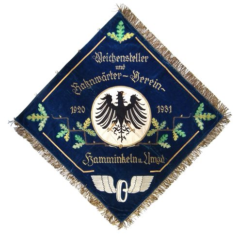 Lot 62-German Veterans embroidered banner