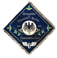 62 - German Veterans embroidered banner
