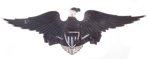 Lot 63-United States Army alloy gate insignia