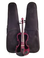 9 - Carlo Giordano electric violin with case and one other case.