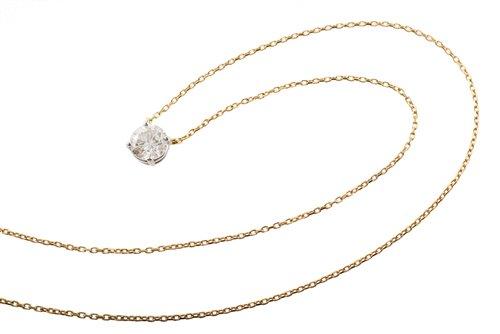 Lot 77-2.00 carat diamond solitaire pendant