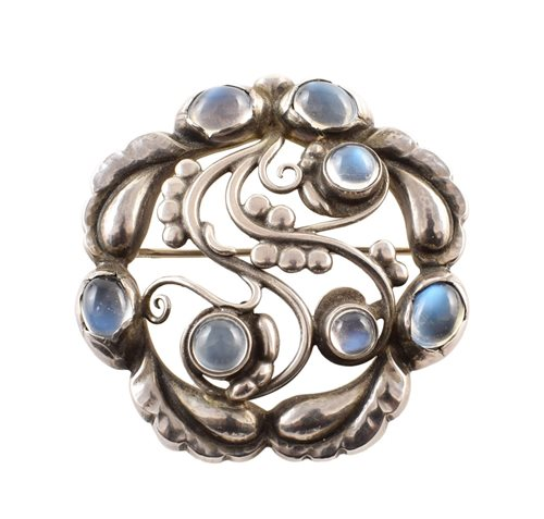 Lot 38-Georg Jensen moonlight silver brooch