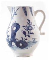 Lot 193-Lowestoft sparrow beak cream jug circa 1775
